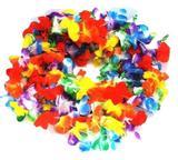 Kit 100 Colar Havaiano Tecido Colorido Luxo Flores Fantasia Festas Formaturas - Festas  decor