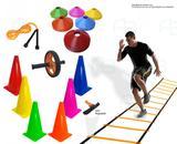 Kit 17 - Escada Agilidade +10 Cones +10 Pratos + Roda Funcional - Ana bely