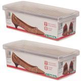 Kit 2 Caixas Sapatos Pequena Organizar Calçados 30x9x13 - Ordene