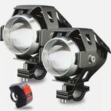 Kit 2 Farol Milha Universal Led Cree U5 Auxiliar Moto interruptor KGT822 - Lorben