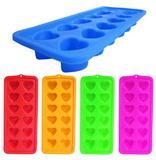 Kit  2 formas  de gelo com 10 cavidades frutas de silicone / plastico colors 22x11,5cm - Western