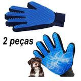 Kit 2 Luvas Tira Pelos Soltos Para Cães e Gatos True Touch Pets - Ag