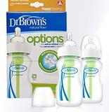 Kit 2 mamadeiras options boca larga 270ml dr browns