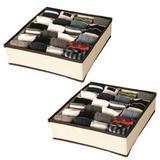 Kit 2 Organizador de Gavetas TNT 24 Espaços Para Calcinhas Cuecas Meias Lingerie 5882 - Center paulista