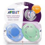 Kit 2 Unidades Chupeta BPA Free 6-18m AZUL e VERDE Phillips - Philips avent