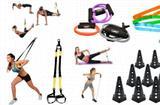 Kit 25 - Kit 16 Itens Mini Bands + Trx + Cone 23 + Kit Extensores - Ana bely