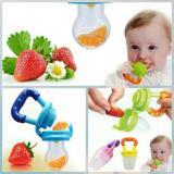 Kit 3 Alimentadora Bico Silicone Mordedo Bebê Frutas Chupeta - Chupeta  amamentadora