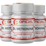 Kit 3 DL Metionina 500mg 60 Cápsulas - Oficialfarma s