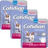 Kit 3 Fraldas ROUPA ÍNTIMA ADULTA COTIDIAN PANTS P/M - 24 UNIDS - Softys