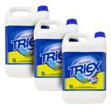 Kit 3 Galões Água Sanitária Triex de 5 Litros Cloro Ativo