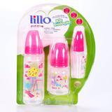 Kit 3 Mamadeira Lillo Evolução Divertida Rosa