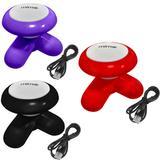 Kit 3 Mini Massageadores Mimo Massager XY3199 Portátil USB Pilha Vermelho Preto Roxo