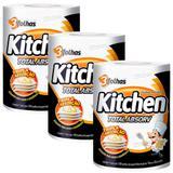 Kit 3 pacotes Papel TOALHA FOLHA TRIPLA KITCHEN - 300 FOLHAS - Softys