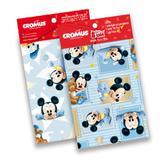 Kit 30 Sacos Presente Laço Cartão Mickey Disney 35X54Cm - Cromus