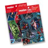 Kit 30 Sacos Presente Laço Cartão Vingadores Marvel 89X120Cm - Cromus