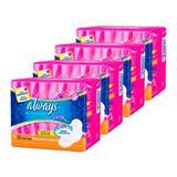 Kit 4 absorvente always pink dia cobertura suave flexi abas 32 unidades