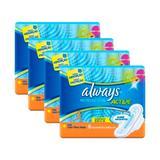 Kit 4 absorvente always proteção total com abas 32 uniddes