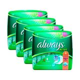 Kit 4 absorvente always ultra active com flexi abas 32 unidades