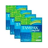 Kit 4 absorvente interno tampax compak super 32 unidades