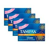 Kit 4 absorvente interno tampax normal super plus 40 unidades