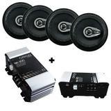 Kit 4 Auto Falante 6 Pol 280 Watts + Modulo Tsd 500 - Orion