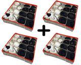 Kit 4 Organizador de Gavetas OrganiBox 36X36X10 16 divisões