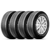 Kit 4 Pneu Continental Aro 15 195/65r15 91h PowerContact2