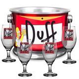Kit 4 taças + balde de gelo em alumínio - duff - Camarim móveis