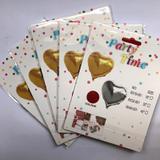 Kit 5 balões coração metalizados vermelho - Vmp