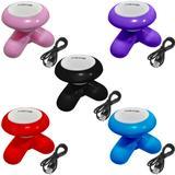 Kit 5 Mini Massageadores Mimo Massager XY3199 Portátil USB Pilha Cores Sortidas