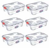 Kit 6 Caixas Organizadoras Transparente 28 Litros - Uninjet