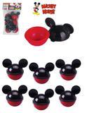Kit 6 peças mini pote porta mix mickey mouse lembrancinhas 50ml - Plasútil