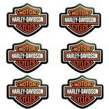Kit 6 Porta Copos Emborrachados Harley Davidson - Versare anos dourados