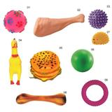 Kit 9 Mordedor Brinquedos De Borracha P/ Cães Cachorro - Pet - Art pet