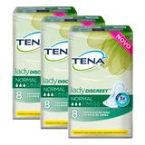 Kit absorvente tena lady discreet normal 24 unidades