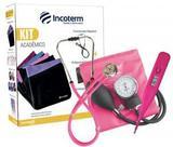Kit Acadêmico Estetoscópio E Esfigmomanômetro Incoterm Rosa Pink
