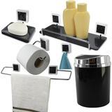 Kit Acessórios Para Banheiro 6 Peças Kit de Banheiro - Preto - Wp connect