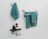 Kit Acessórios para Banheiro Conjunto 3 peças Porta Toalhas Papel Cabideiro - Branco Laca - Formalivre
