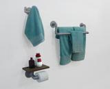 Kit Acessórios para Banheiro Conjunto 3 peças Porta Toalhas Papel Cabideiro - Prata Laca - Formalivre