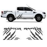 Kit Adesivo Ford Ranger Raptor Faixa Lateral Grafite Tuning - Sportinox