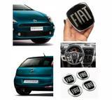 Kit Adesivos Fiat Black Diant Tras Vol Calotas Punto 08/16 - Sportinox
