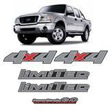 Kit Adesivos Ford Ranger Limited 3.0 4x4 2007 a 09 Cromado - Sportinox