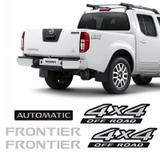 Kit Adesivos Nissan Frontier 4x4 Off Road Automatic Escovado - Sportinox
