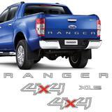 Kit Adesivos Ranger 4x4 E Xls Ford Ranger 13/16 Faixa Prata - Sportinox