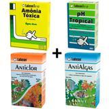 Kit Alcon Amônia Tóxica + Ph Tropical + Anticlor + Antialgas