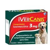 Kit Antiparasitário 3mg 12x4 Comprimido - Com 12 Unidades - Ivercanis