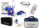 Kit Aparelho De Pressão com Estetoscópio Duplo Incoterm  Completo - Azul