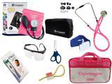 Kit Aparelho De Pressão com Estetoscópio Rappaport Incoterm Completo - Pink