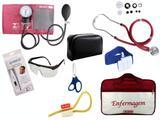 Kit Aparelho De Pressão com Estetoscópio Rappaport Premium Completo - Vinho