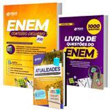 Kit Apostila Enem + Livro Mil Questões + Caderno Atualidades - Nova